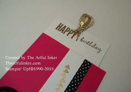 Celebrate Today pocket card pulled out from theartfulinker.com