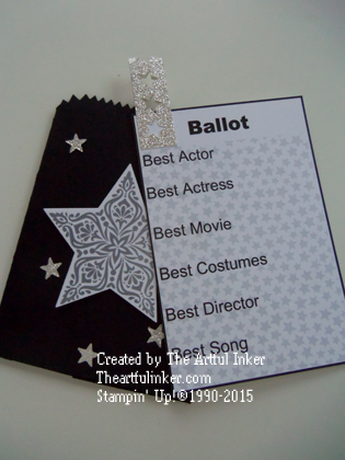 Oscar Ballot - open from theartfulinker.com