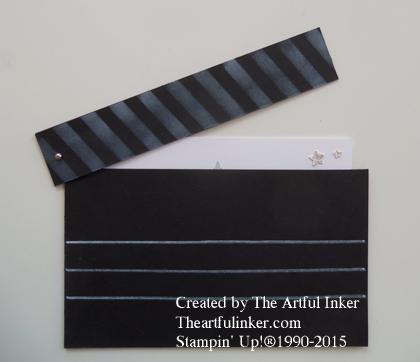 Oscar Party Clapper Board invite open from theartfulinker.com