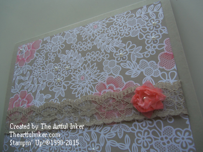 Something Borrowed wedding card with embellishments from theartfulinker.com