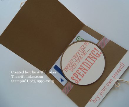 BYOP Circle Card Thinlit Gift Card Holder inside from theartfulinker.com