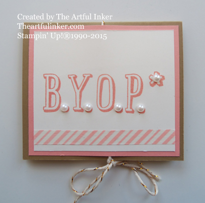 BYOP Circle Card Thinlit Gift Card Holder from theartfulinker.com