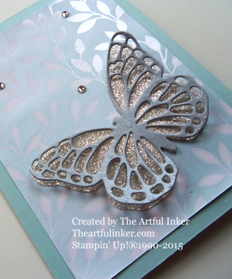 Butterflies Thinlits on Irresitably Yours detail from theartfulinker.com