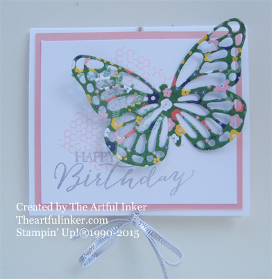 Butterfly Basics Circle Card Thinlit Gift Card Holder from theartfulinker.com