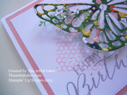 Butterfly Basics Circle Card Thinlit Gift Card Holder detail from theartfulinker.com