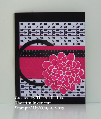 Just Add Ink 253 Flower Patch card from theartfulinker.com