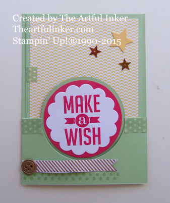 Perfect Pennants Circle Thinlit Pocket card from theartfulinker.com