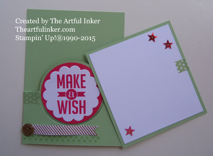 Pefect Pennants Circle Thinlit Pocket card - reverse - from theartfulinker.com