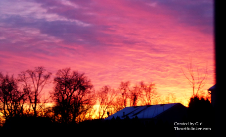Sunrise March 3, 2015 from theartfulinker.com