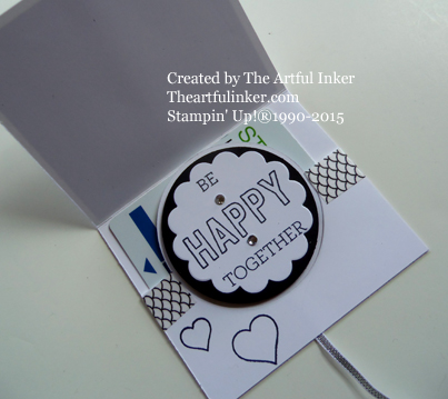 Something Lacy Circle Card Thinlit Gift Card Holder inside from theartfulinker.com