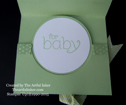 BYOP Baby Gift Card Holder inside from theartfulinker.com