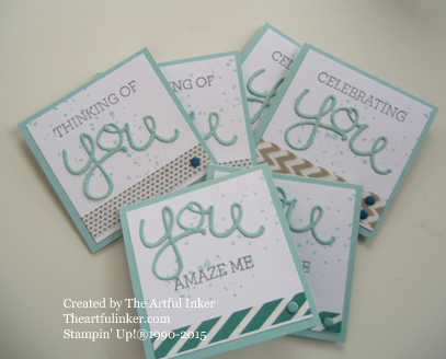 Crazy About You love notes from theartfulinker.com