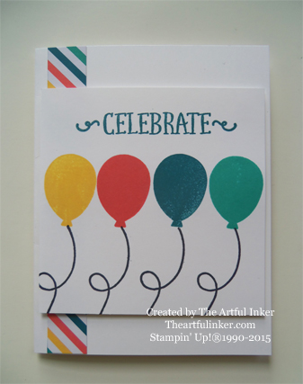 Birthday Bundle May, 2015 Paper Pumpkin Balloon card from theartfulinker.com
