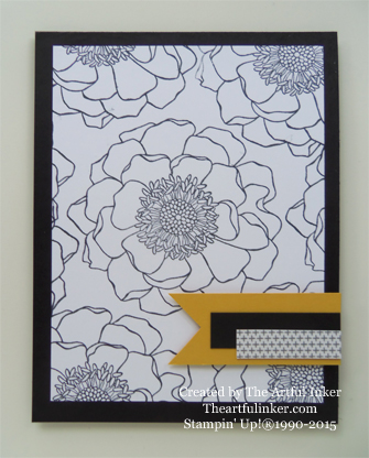 Blended Bloom background card for Mother's Day Creation Station from theartfulinker.com