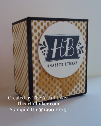 Gift Bag Punch Board Tuck Top Box from theartfulinker.com
