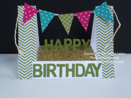Happy Birthday Fun Fold card from theartfulinker.com