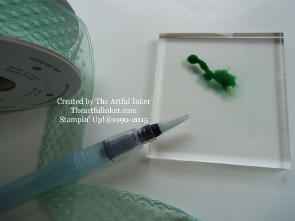 Watercoloring with Mint Macaron for Creation Station from theartfulinker.com