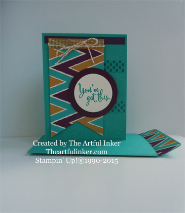 You've Got This with Bohemian designer paper and a Pouch Style Envelope created with the Gift Bag Punch Board: created by theartfulinker.com