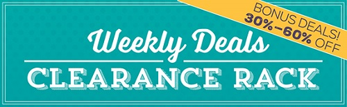 30% - 60% Bonus Weekly Deals and Clearance Rack products - from theartfulinker.com
