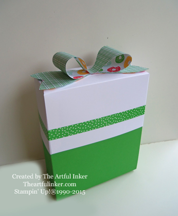 A2 card box mad using the Gift Bag Punch Board: created by theartfulinker.com