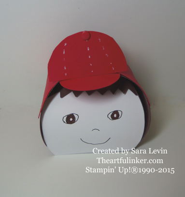 Baseball Cap Curvy Keepsake Box from theartfulinker.com