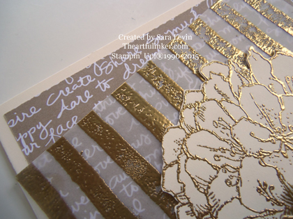 Best Thoughts Gold Wedding card detail from theartfulinker.com