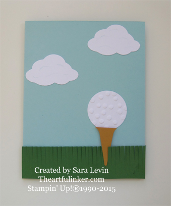Golf Card for Creation Station from theartfulinker.com