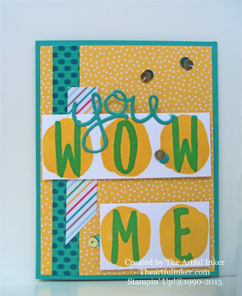 Layered Letters You Wow Me card from theartfulinker.com