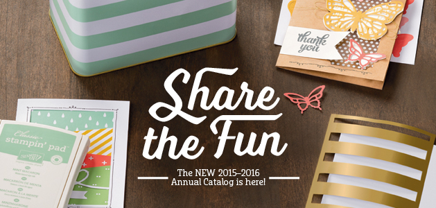 The new 2015-2016 Stampin' Up! Catalog is here!