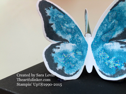 Dazzling Details on Watercolor Wings knob for Berry Basket lid - from the artfulinker.com