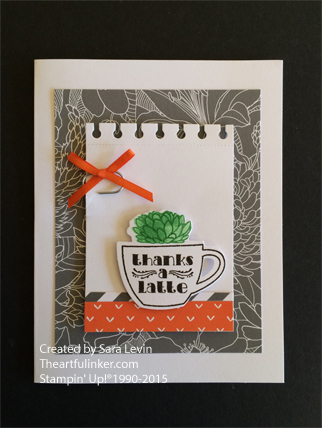 Thanks A Latte, July Paper Pumpkin card from theartfulinker.com