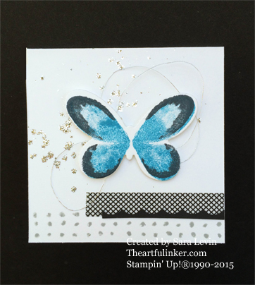 Watercolor Wings Blue Morpho Love Note from theartfulinker.com