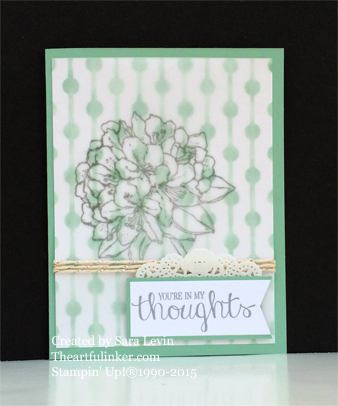 Best Thoughts masked Sympathy card for Creation Station from theartfulinker.com