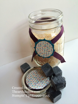 Bohemian designer paper gift jar decoration from theartfulinker.com
