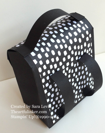 Gift Bag Punch Board Backpack - back - from theartfulinker.com