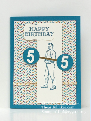 Guy Greetings 55th Birthday, masculine card from theartfulinker.com