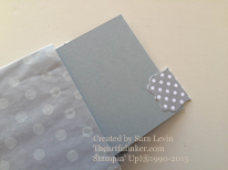 Sketched Dots for Creation Station - mini album pocket pages - from theartfulinker.com
