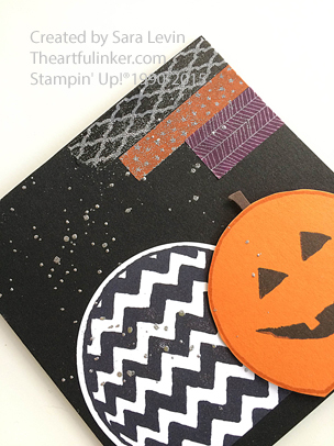 Sparkly Seasons Pumpkin Carving Party Invitation detail from theartfulinker.com