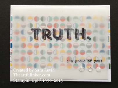 Words of Truth - I'm Proud of You - simple card from theartfulinker.com