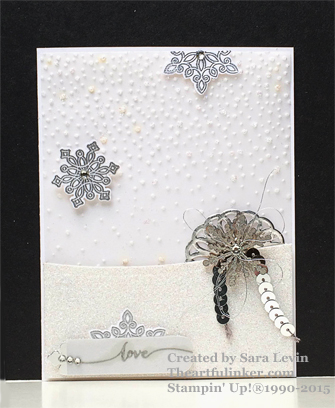 Flurry of Wishes Wedding card from theartfulinker.com