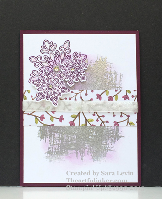 Flurry of Wishes Christmas card for PP273 in non traditional colors from theartfulinker.com