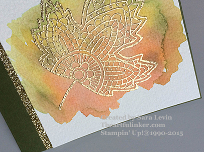 Lighthearted Leaves Birthday card detail from theartfulinker.com