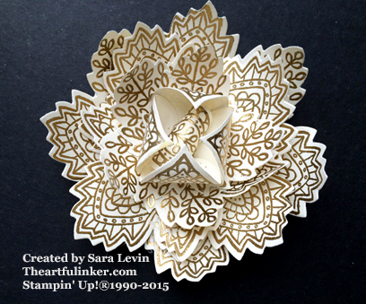 Lighthearted Leaves Flower for Creation Station from theartfulinker.com