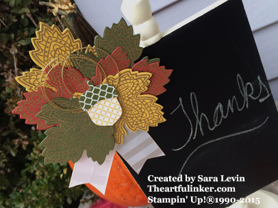 Lighthearted Leaves Chalkboard ornament (close up ) for Creation Station from theartfulinker.com