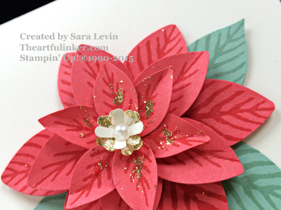 Festive Flower Builder Punch Poinsettia from theartfulinker.com
