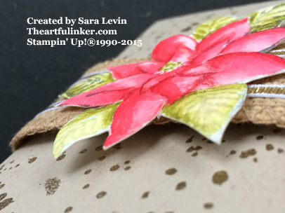 Reason for the Season Gift Card Holder - poinsettia dimension detail - from theartfulinker.com