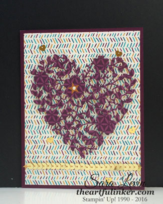 Bohemian Bloomin' Heart masculine card for GDP020 from theartfulinker.com