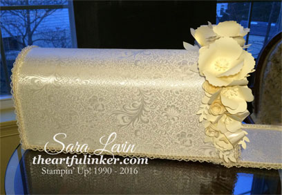 Custom made Wedding Mailbox with Handmade Paper Flowers from theartfulinker.com