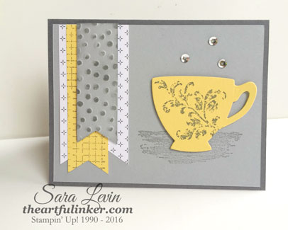 Timeless Textures with Cups and Kettles for GDP025 from theartfulinker.com