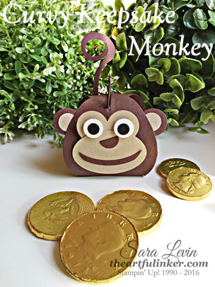 Curvy Keepsake Monkey for Chinese New Year from theartfulinker.com